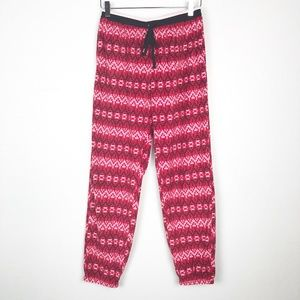 KENSIE red black white FLEECE sleep lounge PANTS